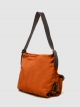 Leather shoulder bag with two front pockets