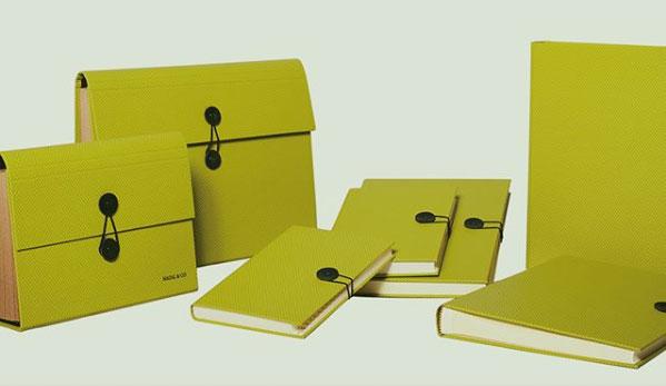 Conjunto de portafolio de piel y otros accesorios para empresas